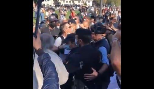 manifestazione negazionisti roma video proteste contro polizia