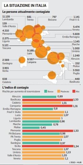 regioni a rischio lockdown lombardia sicilia basilicata campania piemonte