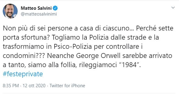salvini feste private
