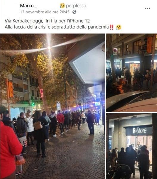 iphone12 napoli fila fake news 1