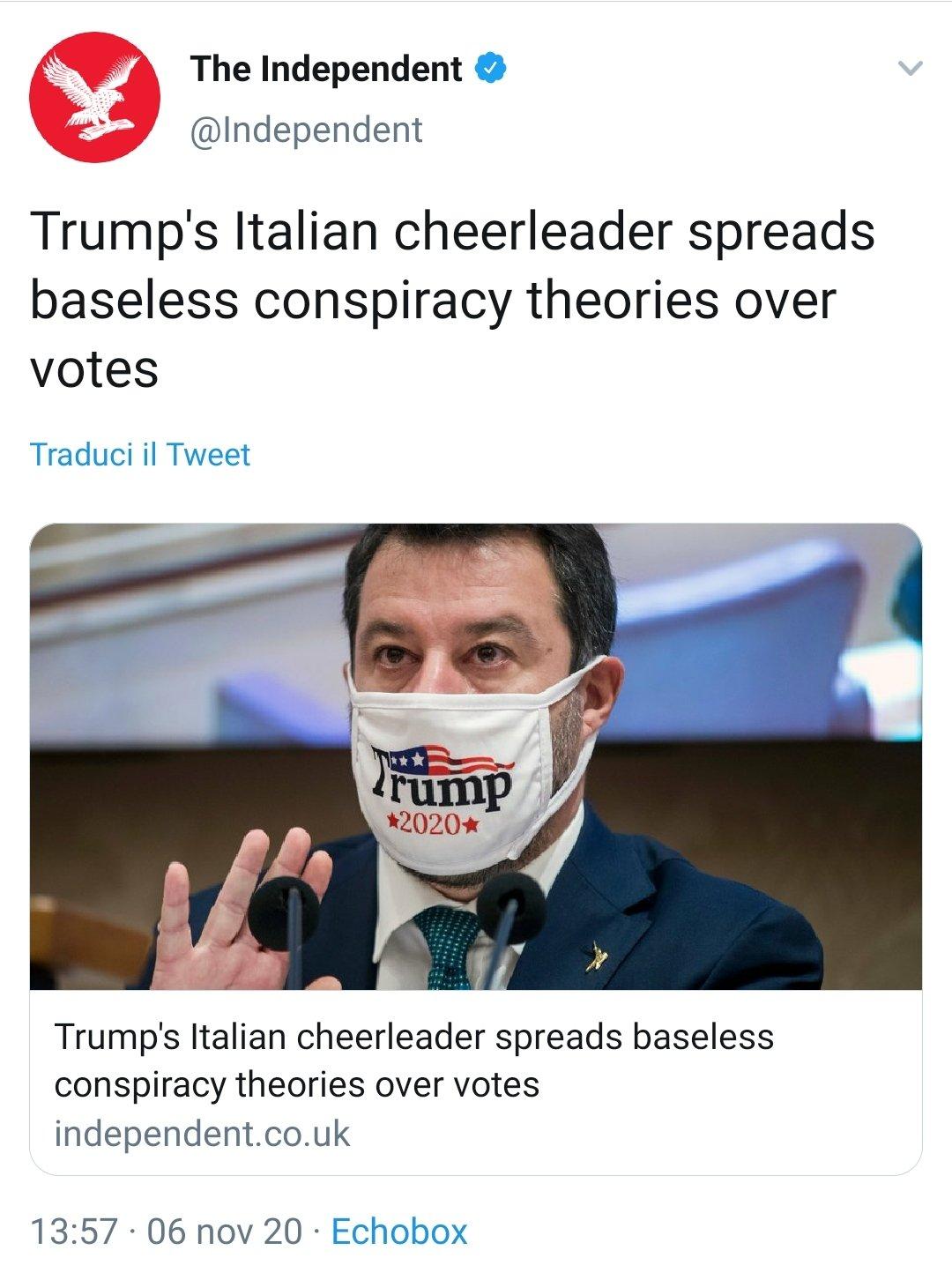 salvini trump's italian cheerleader