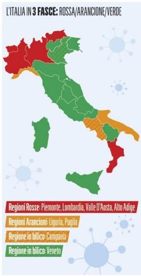 spostamenti vietati regioni zone rosse arancioni autocertificazione