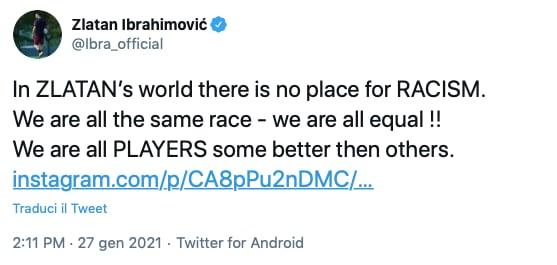 Ibrahimovic Lukaku razzismo