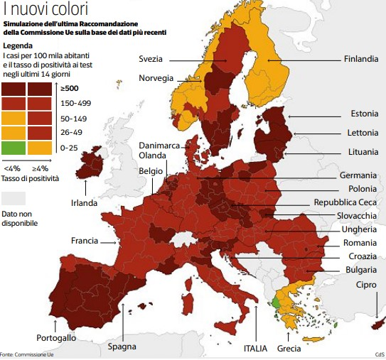 zone rosso scuro italia