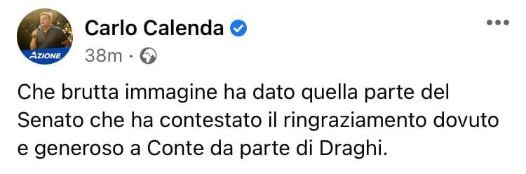 Carlo Calenda post