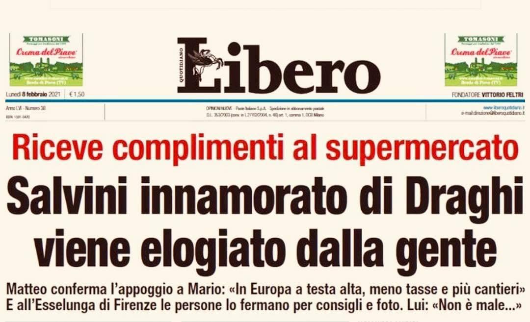 Libero Salvini draghi titolo