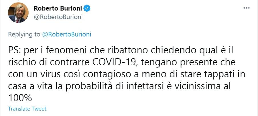 Roberto Burioni Twitter