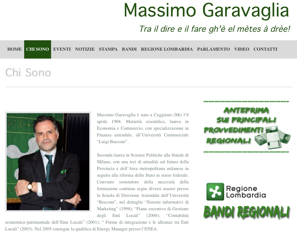Sito Massimo Garavaglia 2