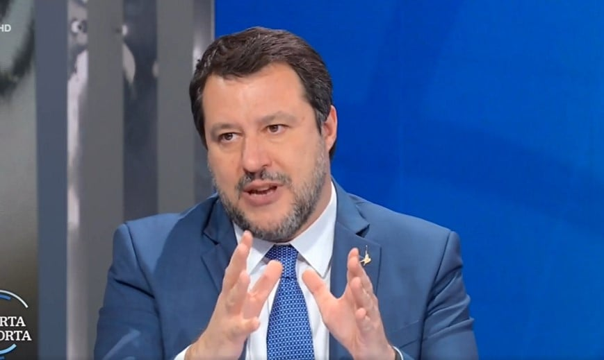 salvini medici no vax video porta a porta