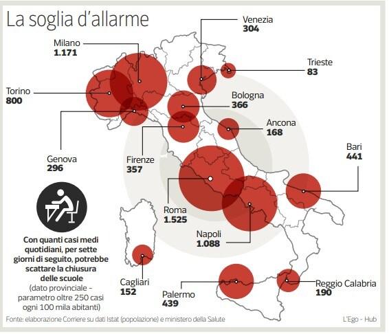 scuole chiuse province a rischio oggi mappa