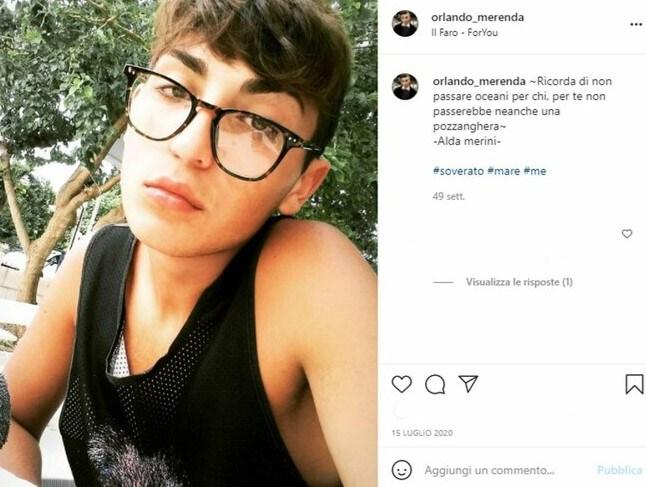 orlando merenda instagram suicidio bullismo