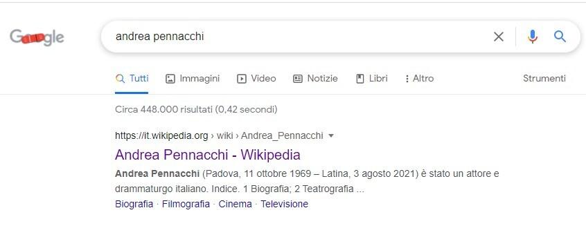 wikipedia andrea pennacchi morto