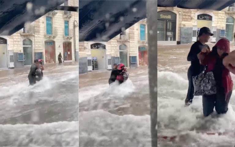Celestino Floralde: l'uomo che non ci ha pensato due volte per salvare una donna dall'alluvione a Catania | ...