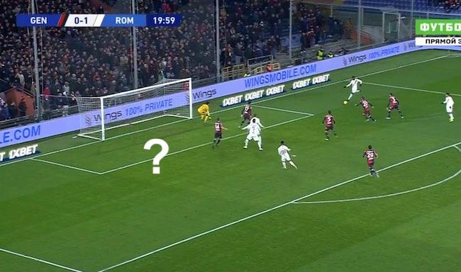Genoa-Roma 1-3 cross Diawara