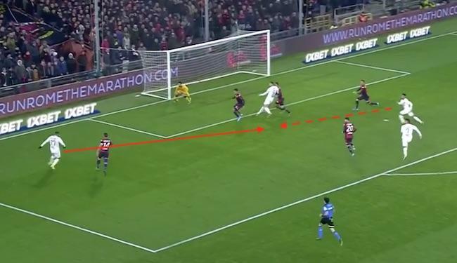 Genoa-Roma 1-3 Cengiz Under Kluivert Dzeko Pellegrini