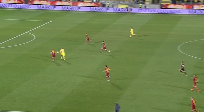 Frosinone-Roma 2-3 gol di Pinamonti