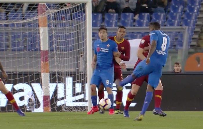 Roma-Fiorentina 2-2 gerson