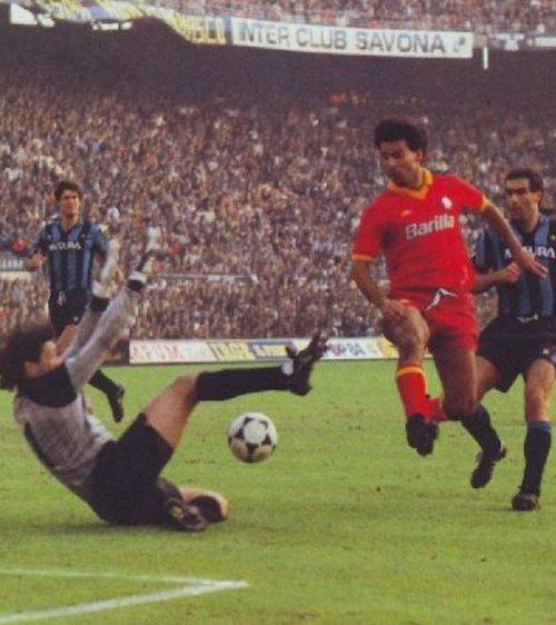 Walter Zenga e Sandro Tovalieri a San Siro Inter-Roma