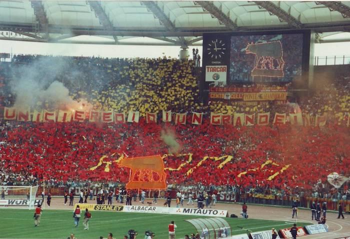 roma-lazio 1991 curva sud