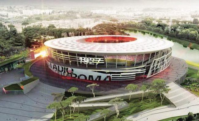 stadio della Roma rendering