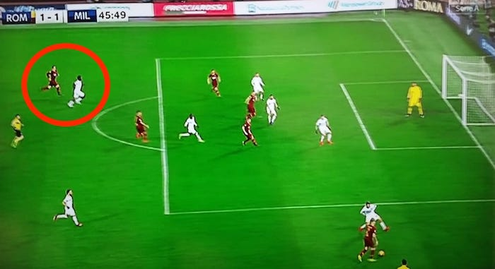 Zaniolo Roma-Milan 1-1