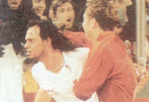 Giuseppe Giannini Francesco Totti Roma-Slavia Praga Curva Sud