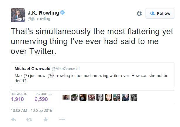 j k rowling complimento harry potter
