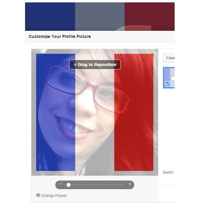 Come avere la foto profilo con la bandiera francese su Facebook 2