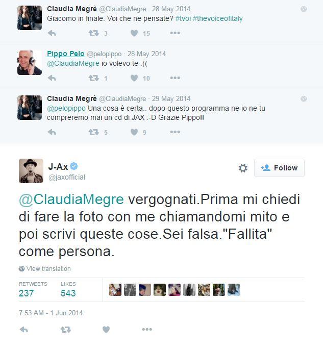 claudia megrè amici j-ax the voice of italy