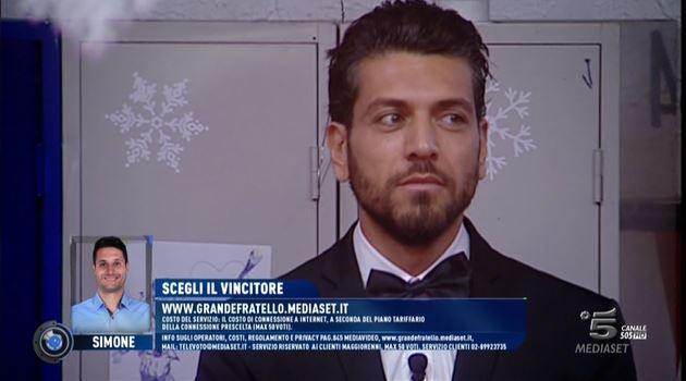 gf14 finale diretta ALESSANDRO SCOPRE SIMONE FEDERICA FINALE 1