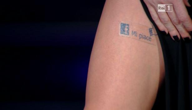belen tatuaggio mi piace virginia raffaele