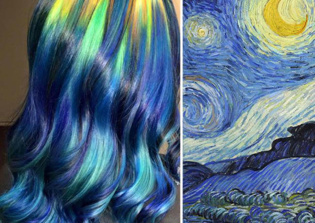 """I capelli a tema """"quadri famosi"""" che ti faranno impazzire ..."""