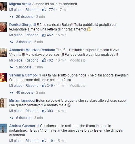 reazione belen Virginia Raffaele 3