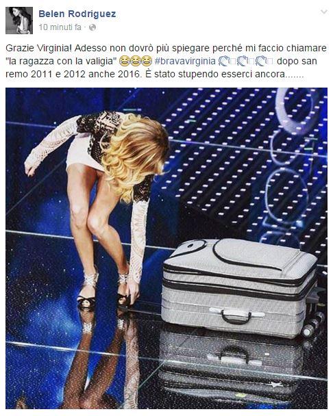 reazione belen Virginia Raffaele