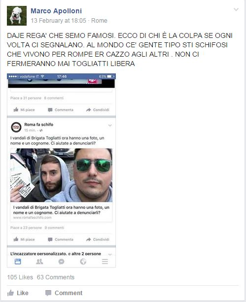 roma fa schifo brigata togliatti - 2