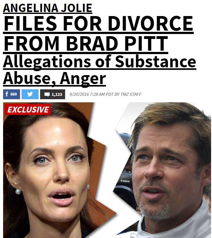 divorzio angelina jolie e brad pitt