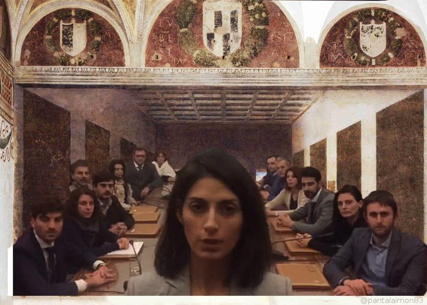 virginia raggi dimissioni muraro meme