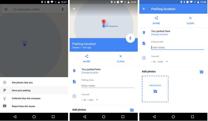 promemoria parcheggio google maps -1