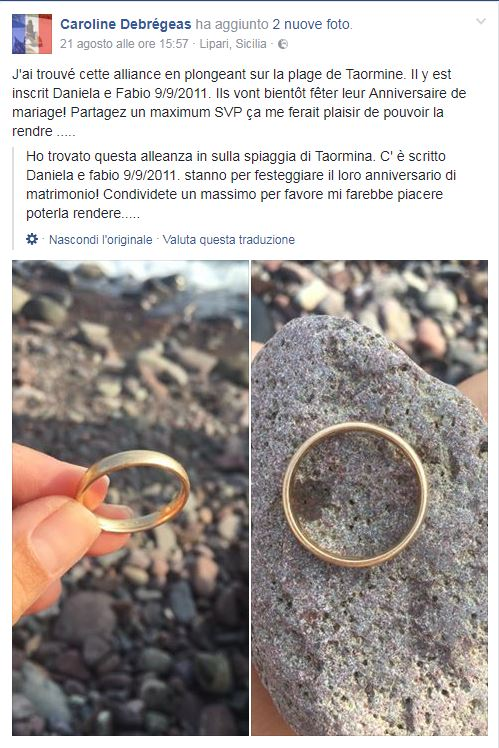 fabio e daniela anello perduto