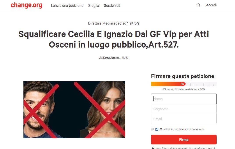 #ceciliaeignaziofuori gfvip petizione