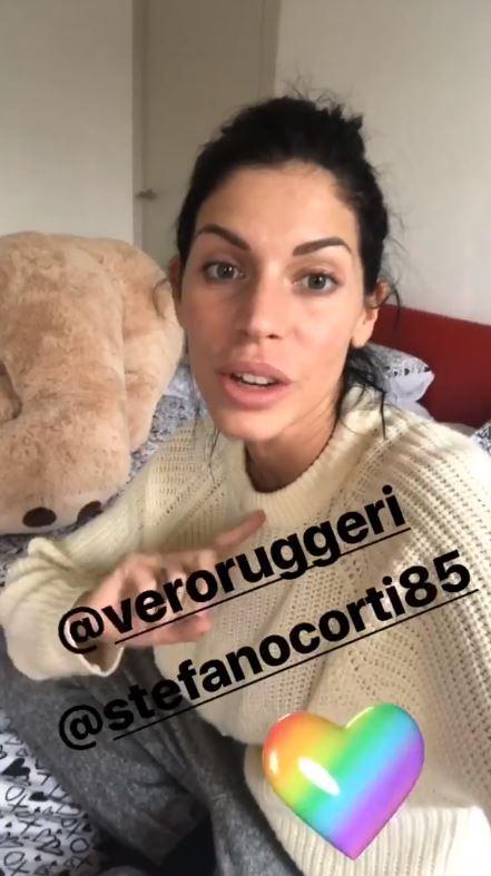 Veronica Ruggeri e Stefano Corti iene bambino