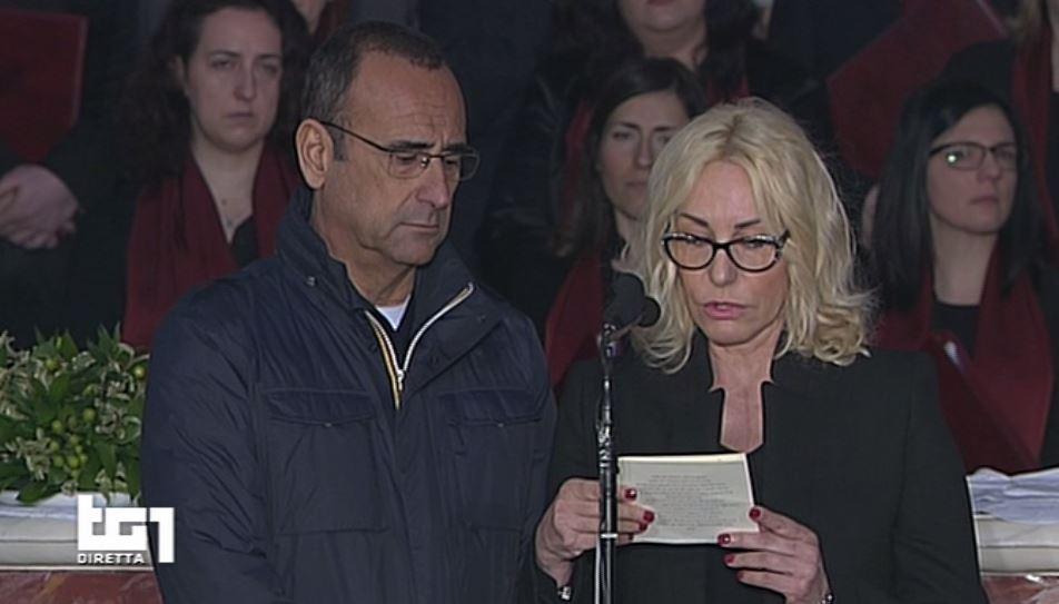 flavio insinna poesia funerali fabrizio frizzi video