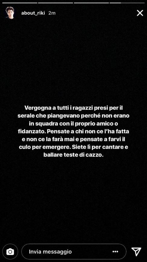 riki marcuzzo insulta amici 17