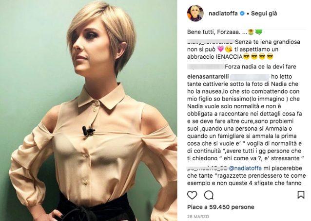 elena santarelli nadia toffa
