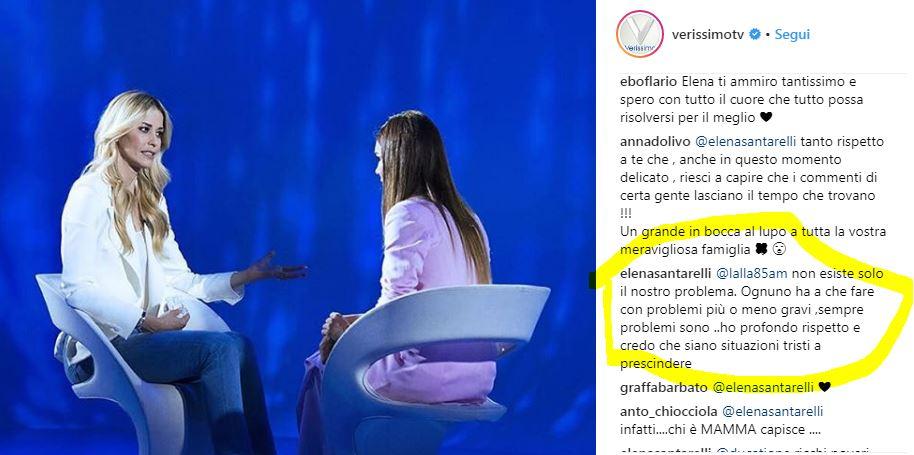 elena santarelli insulti verissimo 1