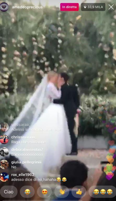 MOMENTO Sì MATRIMONIO CHIARA FERRAFNI FEDEZ