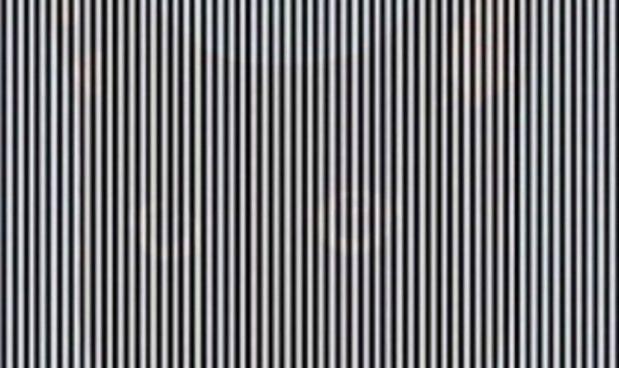 illusione ottica a strisce