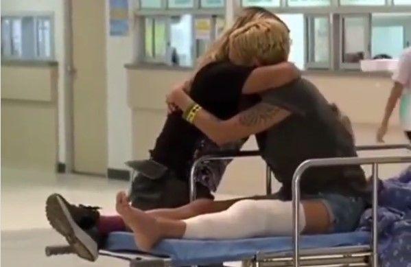 asia argento ginocchio rotto pechino express video