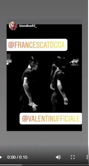francesca tocca difesa valentin video choc 2