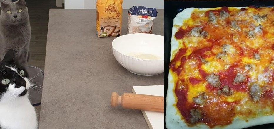 quarantena pizza fatta in casa porta la fame questo video audio